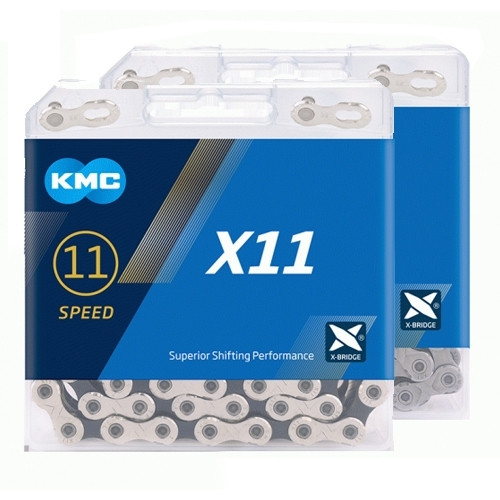 KMC X11 Chain Silver Black 118 Links