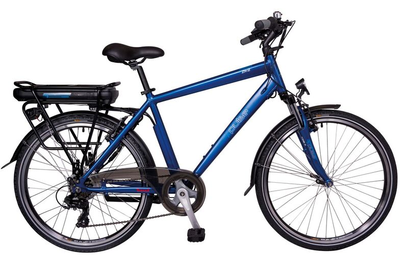 Pulse ZR2 Blue 48x26 Electric Bike 11ah battery