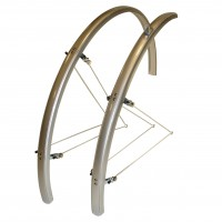 Oxford 700c x 31mm Narrow Mudguards – Silver (Pair)