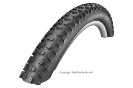 SCHWALBE 27.5 X 2.25 (57-584) NOBBY NIC FOLDING PL TYRE-BLK