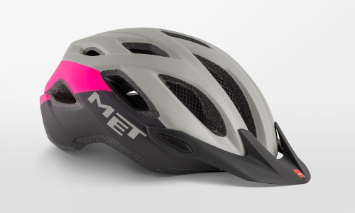 Met Crossover Helmet Medium Grey, Pink